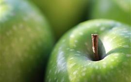 壁紙のプレビュー 緑リンゴマクロ写真