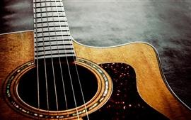 Guitarra, cordas, música