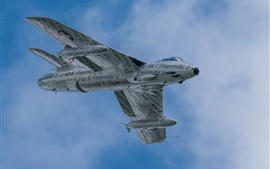 Preview wallpaper Hawker Hunter, bomber, flight, sky