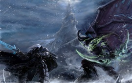 Illidan Stormrage, Warcraft, demon, elf, art picture