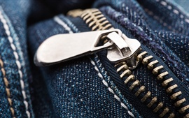 Preview wallpaper Jeans, metal zipper