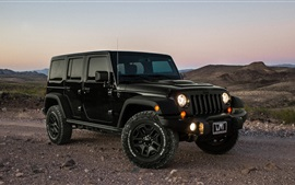 Preview wallpaper Jeep, car, dusk
