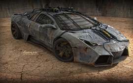 Lamborghini sports car, armor, art