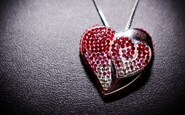Preview wallpaper Love heart pendant, jewelry, decoration