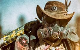 壁紙のプレビュー 男性、顔、帽子、steampunk