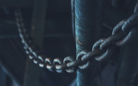Preview wallpaper Metal chain macro photography