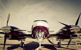 Preview wallpaper Plane, propeller, turbine, cabin, airport