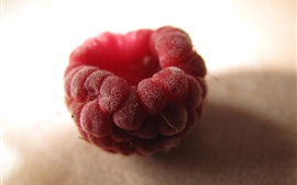 Raspberry macro photography, red, fruit