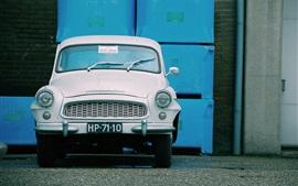 Vista frontal do carro retro