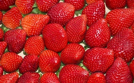 Ripe strawberries, berries, fruit