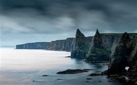 Mar, rocas, acantilado, costa, paisaje de la naturaleza