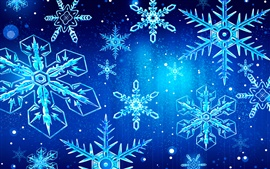 Preview wallpaper Snowflakes, blue background
