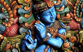 Preview wallpaper Statue, colors, hindu