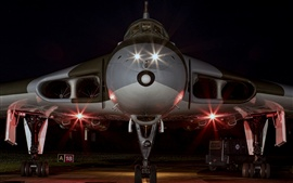 Strategic bomber front view, night