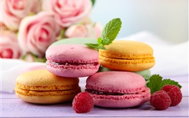 Preview wallpaper Sweet food, almond macarons, cookies
