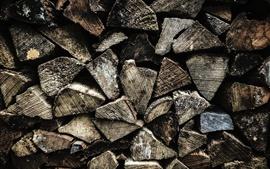壁紙のプレビュー 木のテクスチャの背景、薪