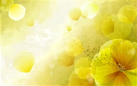 Preview wallpaper Yellow flowers background, postcard
