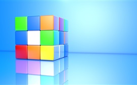 Preview wallpaper 3D cube, colorful colors
