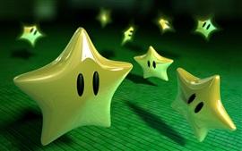 Preview wallpaper 3D green stars