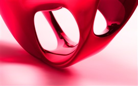 Preview wallpaper 3D red shape