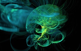 Preview wallpaper Abstract green jellyfish