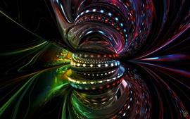 Aperçu fond d'écran Monde abstrait, coloré, léger