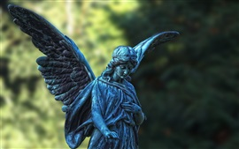 Preview wallpaper Angel statue, girl, wings