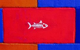 Kunst Malerei Wand, Fisch
