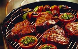 Aperçu fond d'écran Barbecue, viande, nourriture