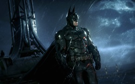Preview wallpaper Batman: Arkham Knight, PS4 games, rainy night