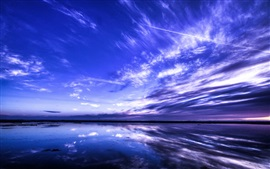 Preview wallpaper Beautiful nature landscape, sea, sky, clouds, blue style