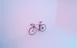Preview wallpaper Bike, wall, light