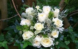 Ramo, rosas blancas, decoración