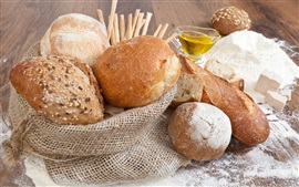 Preview wallpaper Bread, food, flour