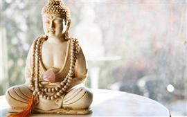Aperçu fond d'écran Statue de Bouddha, pierre, coeur