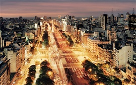 Preview wallpaper Buenos Aires, Argentina, city night, buildings, roads, cars, lights