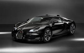 Preview wallpaper Bugatti Veyron black car
