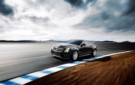 Preview wallpaper Cadillac black car speed, road