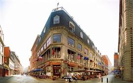 City street, cafe, people