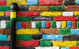 Preview wallpaper Colorful bricks texture, wall