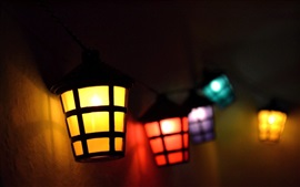 Colorful lights, lamp, night