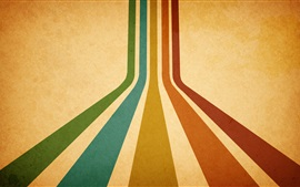 Preview wallpaper Colorful lines, orange background