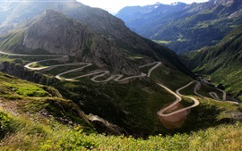 Preview wallpaper Curved mountain road