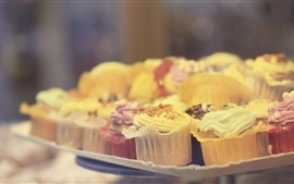 Preview wallpaper Delicious cupcakes, food, bokeh