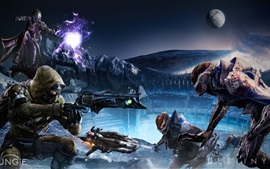 Preview wallpaper Destiny, soldiers, alien, games