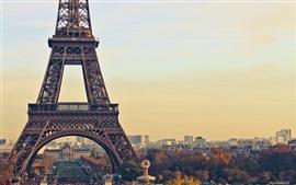 Preview wallpaper Eiffel Tower, Paris, France, city, dusk