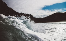 Vorschau des Hintergrundbilder Schaum, Wellen, Spritzwasser, Meer