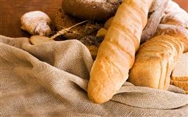 Alimentos, pão, pano