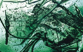 Preview wallpaper Green liquid, blisters, glass splinters