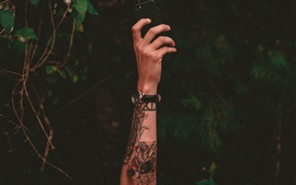 Preview wallpaper Hand, tattoo, watch